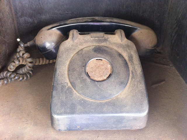 Dusty old telephone