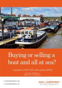 VAT and Boats eBook